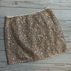 Topshop rose gold sequin miniskirt 8